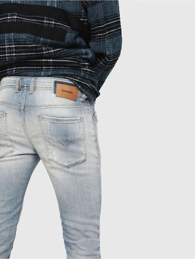 Diesel - Sleenker 081AJ, Bleu Clair - Jeans - Image 4