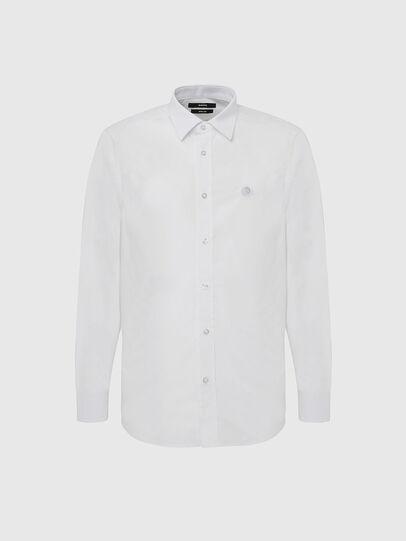 Diesel - S-BILL, Blanc - Chemises - Image 1