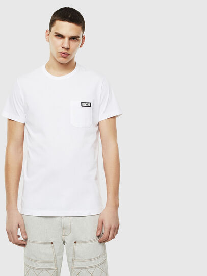 Diesel - T-WORKY-SLITS, Blanc - T-Shirts - Image 1