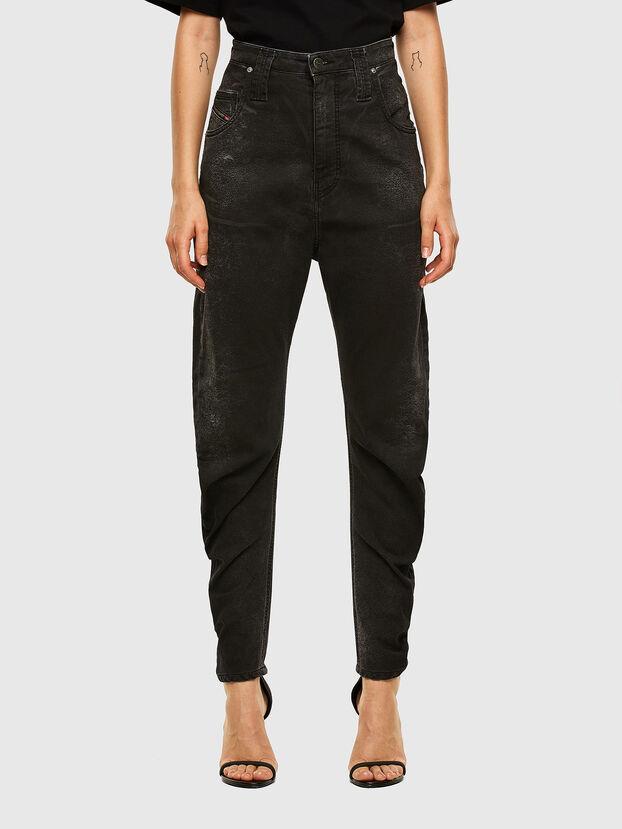 D-Plata JoggJeans 009DS, Noir/Gris foncé - Jeans