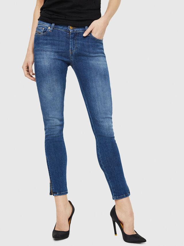Diesel - Slandy Zip 088AU, Bleu moyen - Jeans - Image 1