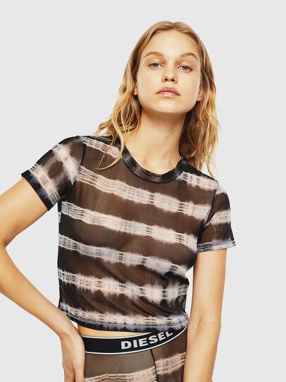 Diesel - UFTEE-ROUNDFEM-M, Noir/Blanc - T-Shirts - Image 1