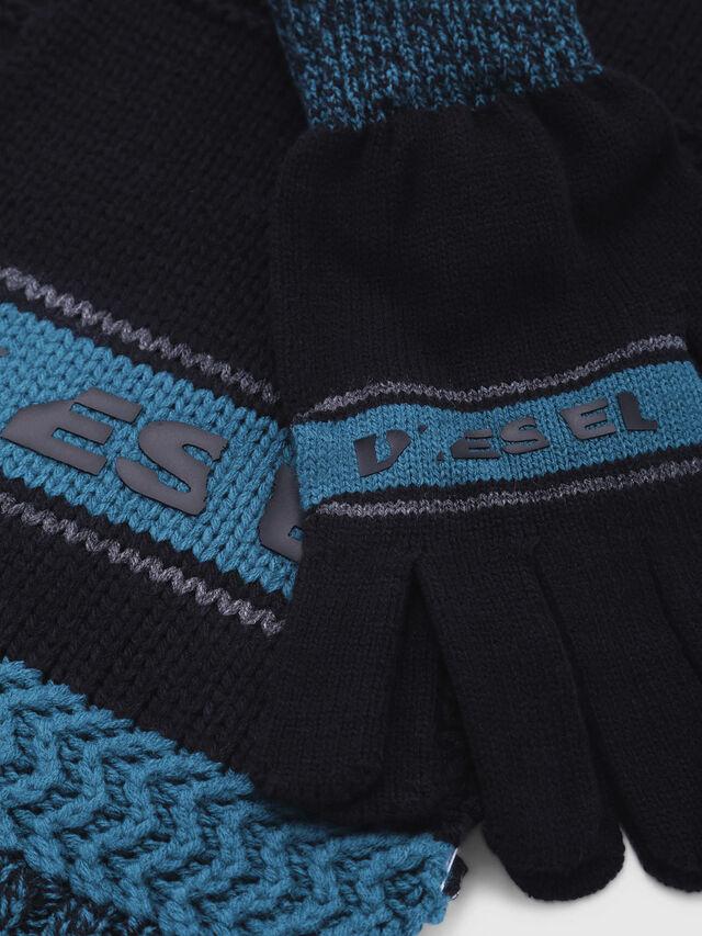 Diesel - CADO-KIT, Noir/Bleu - Écharpes - Image 2