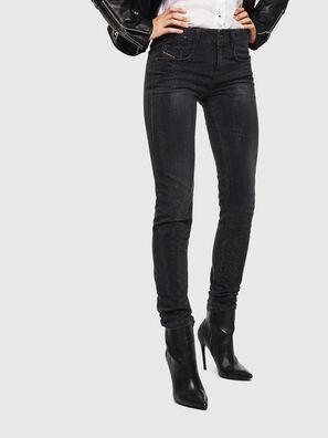 D-Ollies JoggJeans 0093H, Noir/Gris foncé - Jeans