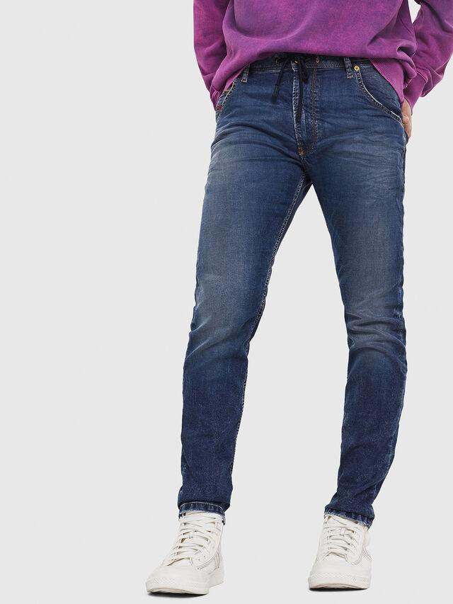 Diesel - Krooley JoggJeans 069FG, Bleu Foncé - Jeans - Image 1