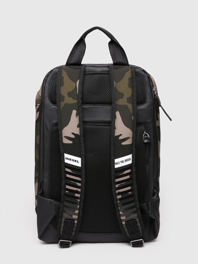 Diesel - F-SUBCAMOU BACK, Vert Camouflage - Sacs à dos - Image 2