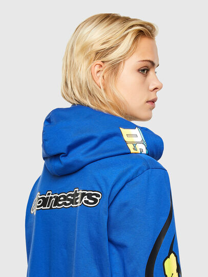 Diesel - ASTARS-T-JUSTOOD-FL, Bleu - T-Shirts - Image 4
