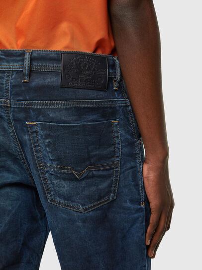 Diesel - D-KROOSHORT-Y JOGGJEANS, Bleu Foncé - Shorts - Image 4