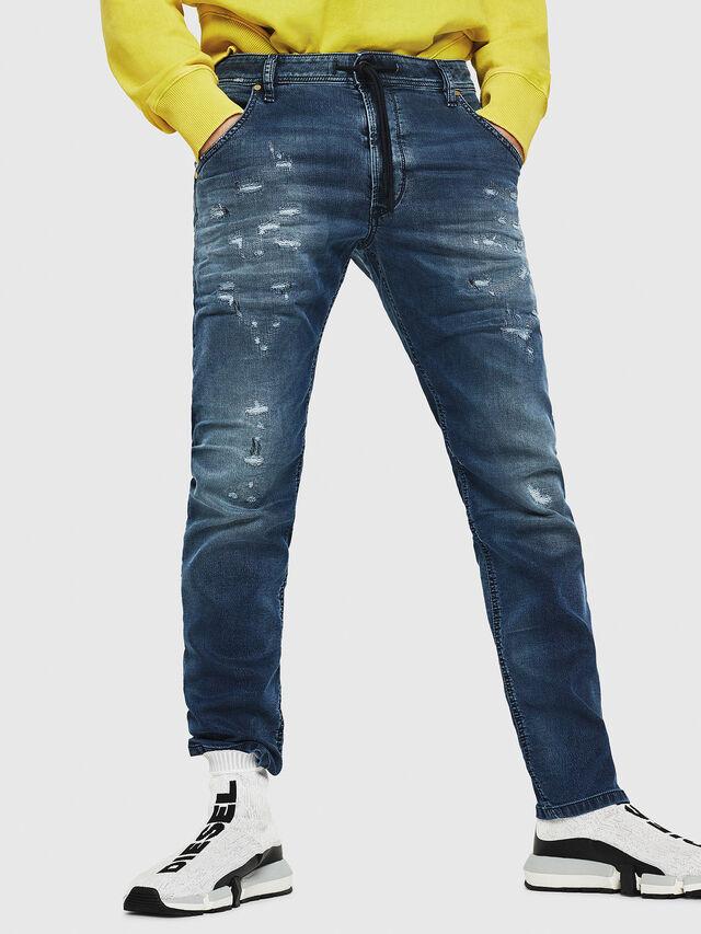 Diesel - Krooley JoggJeans 069HA, Bleu moyen - Jeans - Image 1