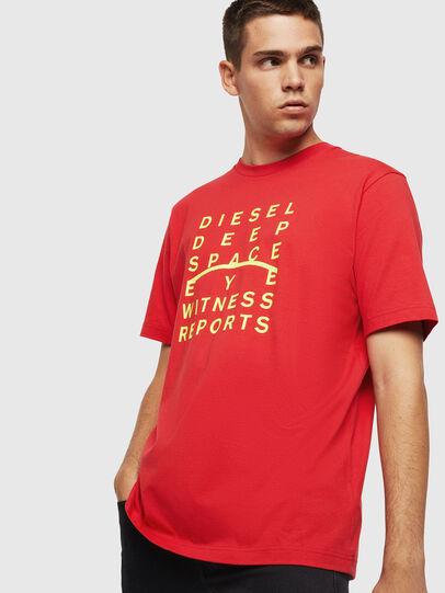 Diesel - T-JUST-J5, Rouge - T-Shirts - Image 1