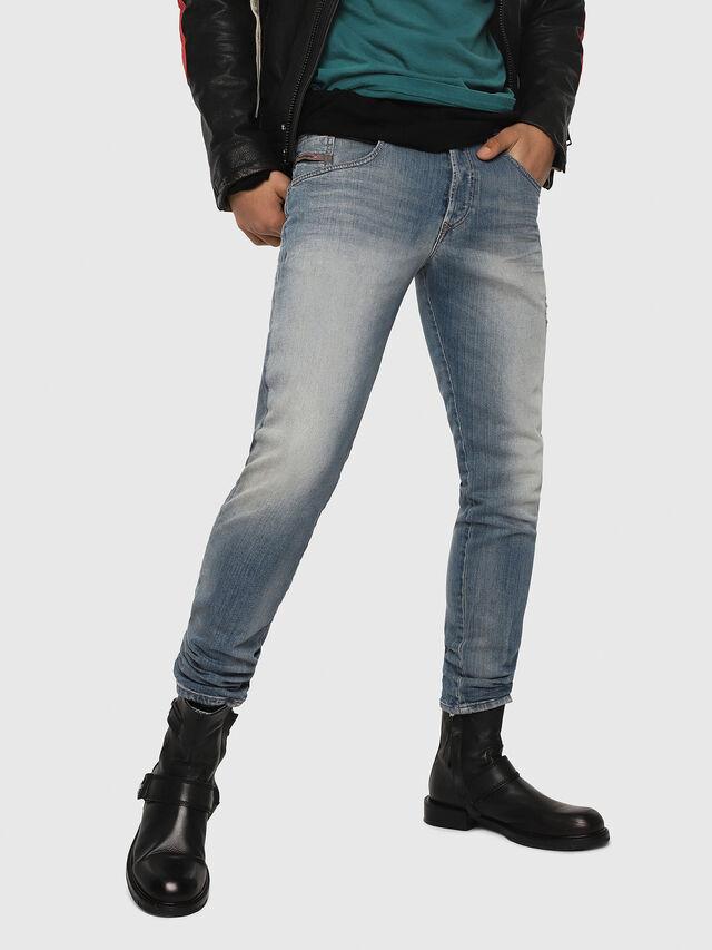 Diesel - D-Bazer 081AP, Bleu Clair - Jeans - Image 1