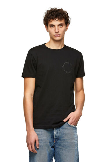 T-shirt label vert avec logo Copyright