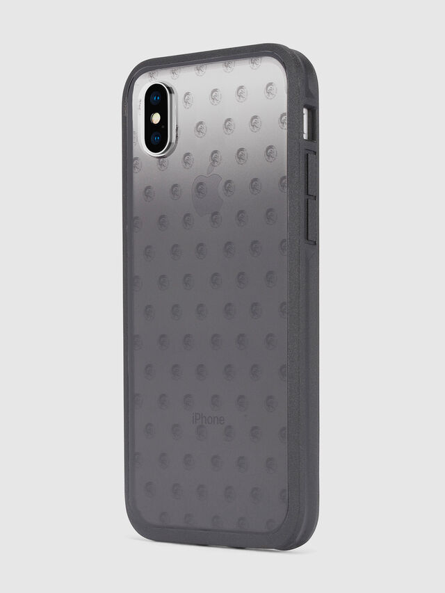 MOHICAN HEAD DOTS BLACK IPHONE X CASE, Noir/Gris