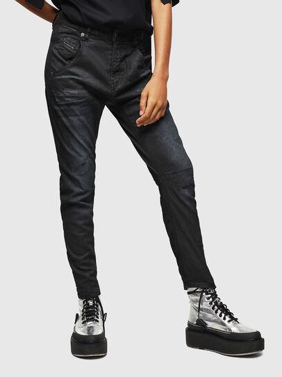 Diesel - Fayza JoggJeans 069GP, Noir/Gris foncé - Jeans - Image 1