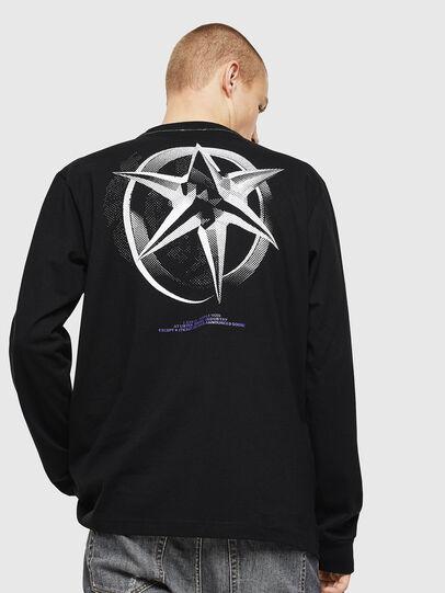 Diesel - T-JUST-LS-VINT, Noir/Blanc - T-Shirts - Image 2