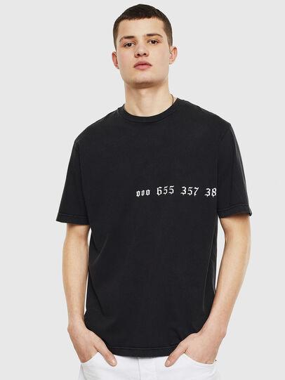 Diesel - T-JUST-T12, Noir - T-Shirts - Image 1