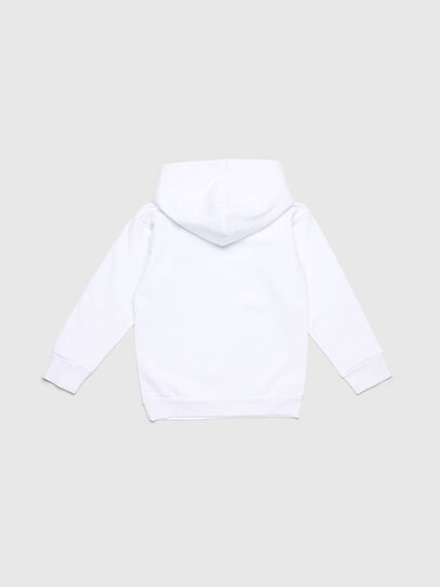 Diesel - SDIVISION-LOGO OVER, Blanc - Pull Cotton - Image 2