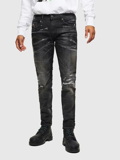 Diesel - Thommer JoggJeans 0098E, Noir/Gris foncé - Jeans - Image 1