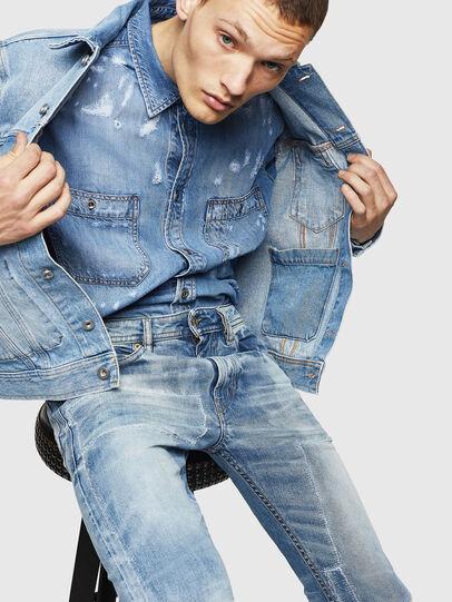 Diesel - Thommer 0092F, Bleu Clair - Jeans - Image 4