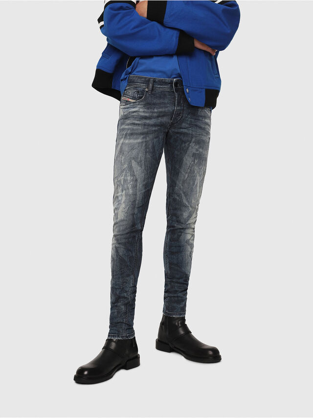 Diesel - Sleenker 069DH, Bleu Foncé - Jeans - Image 1