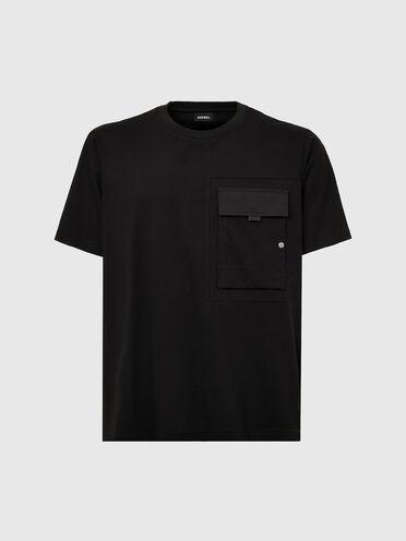 T-shirt à empiècements en coton Supima