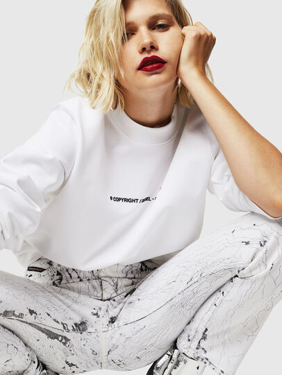Diesel - F-ANG-COPY, Blanc - Pull Cotton - Image 4
