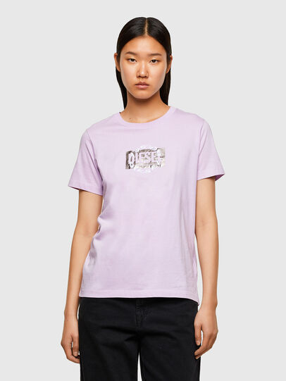 Diesel - T-SILY-R5, Lilas - T-Shirts - Image 1