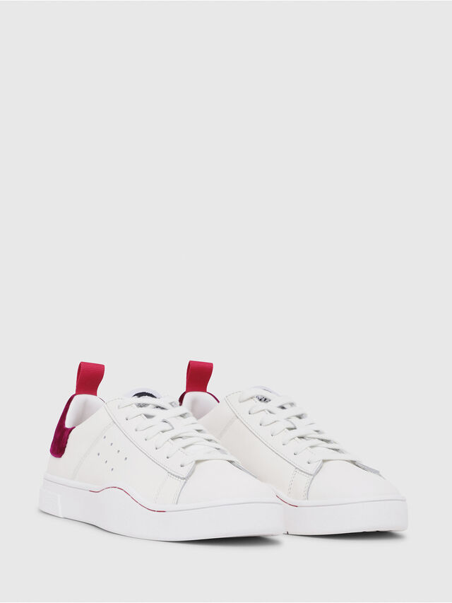 Diesel - S-CLEVER LOW W, Blanc/Rouge - Baskets - Image 2