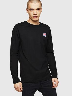 T-DIEGO-DIV-LS, Noir - T-Shirts