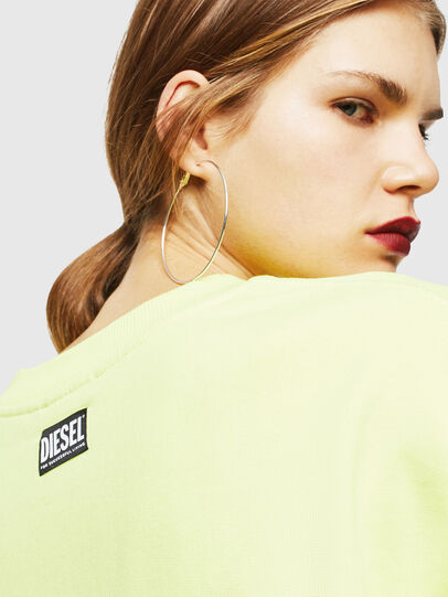 Diesel - F-AKUA, Jaune Fluo - Pull Cotton - Image 5