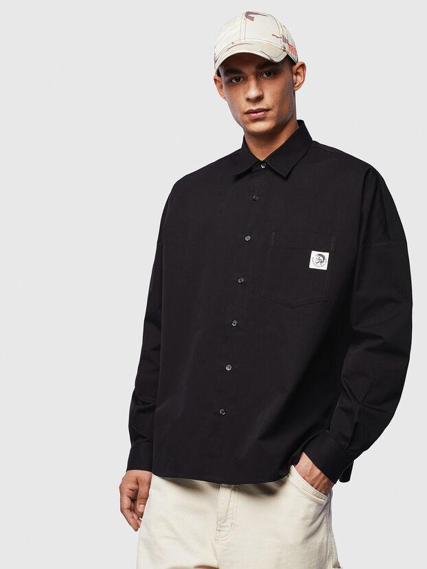S-LOOMY, Noir - Chemises