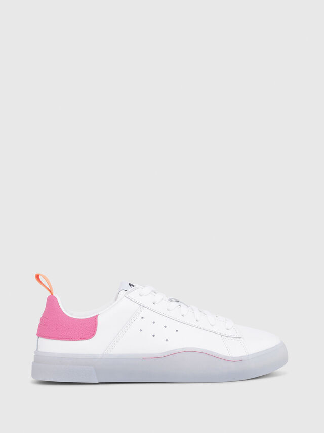 Diesel - S-CLEVER LOW W, Blanc/Rose - Baskets - Image 1