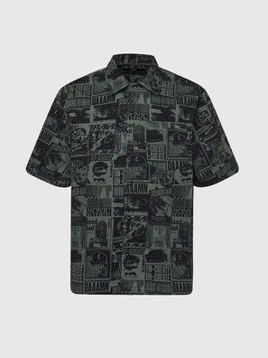 S-ROHAD-B, Noir/Vert - Chemises