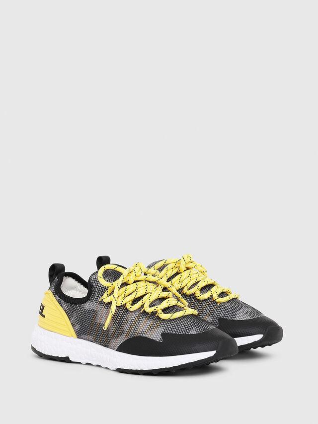 Diesel - SN LOW 10 S-K YO, Gris/Noir - Footwear - Image 2