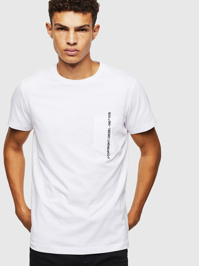 Diesel - T-RUBIN-POCKET-J1, Blanc - T-Shirts - Image 1