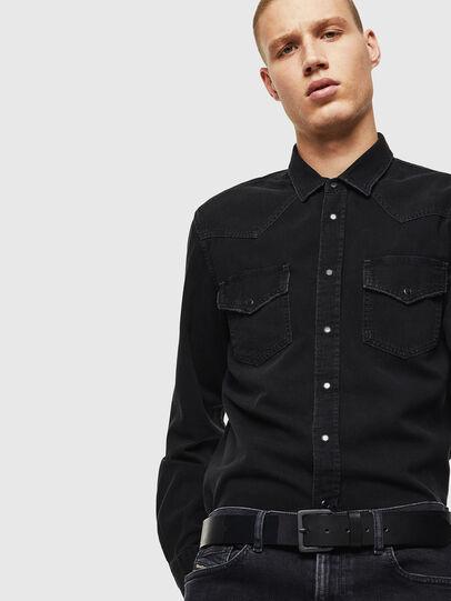 Diesel - D-EAST-P, Noir - Chemises en Denim - Image 4