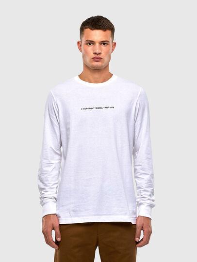 Diesel - T-JUST-LS-X93, Blanc - T-Shirts - Image 1