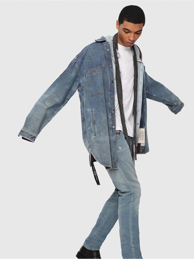Diesel - Krooley JoggJeans 086AY, Bleu Clair - Jeans - Image 3
