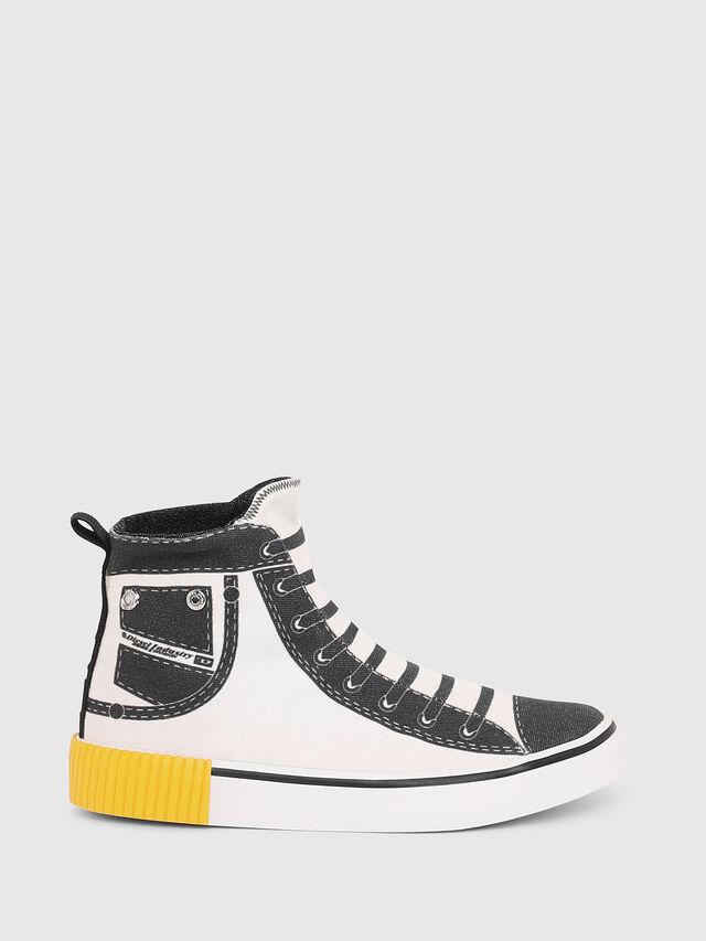 Diesel - SN MID 08 GRAPHIC CH, Blanc/Noir - Footwear - Image 1