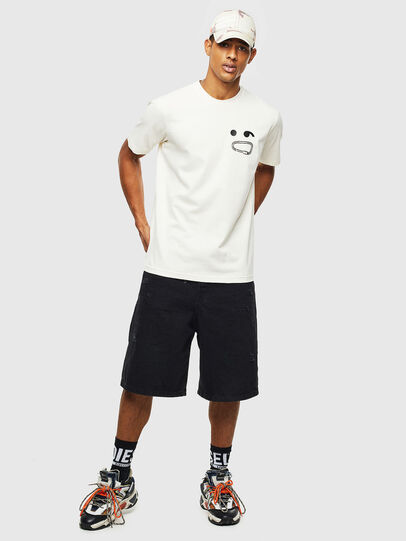 Diesel - T-JUST-T14, Blanc - T-Shirts - Image 4
