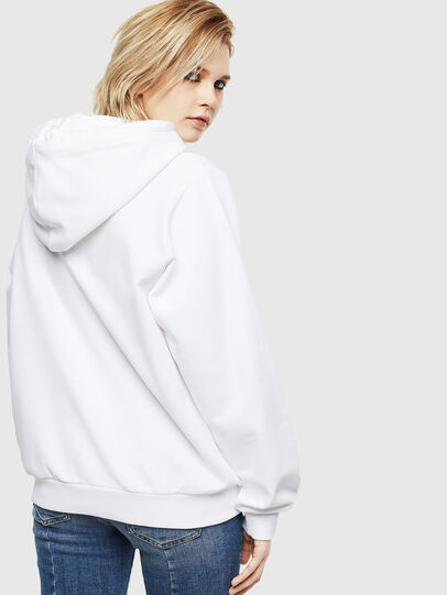 Diesel - F-ANG-HOOD-S1, Blanc - Pull Cotton - Image 2