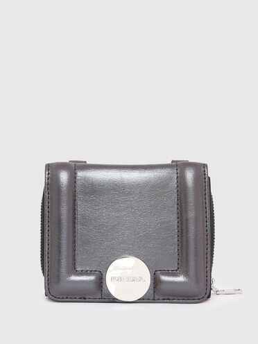 Mini sac portefeuille en cuir irisé