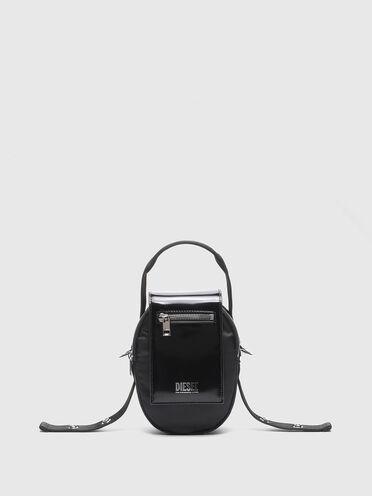 Petit sac à bandoulière en nylon et en cuir
