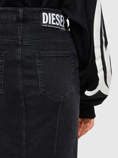 Diesel - DE-PENCIL-ZIP, Noir - Jupes - Image 4