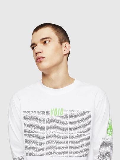 Diesel - T-JUST-LS-NEW, Blanc - T-Shirts - Image 4