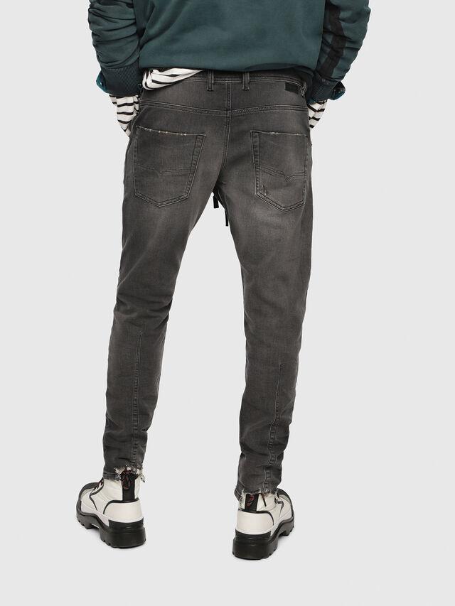 Diesel - Krooley JoggJeans 069EM, Noir/Gris foncé - Jeans - Image 2