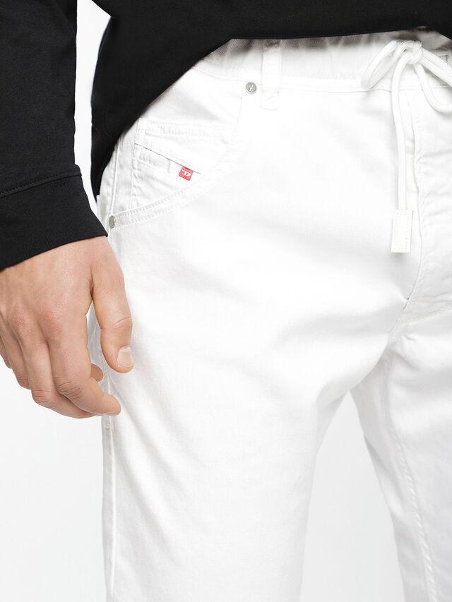 Diesel - Krooley JoggJeans 0684U, Blanc - Jeans - Image 5