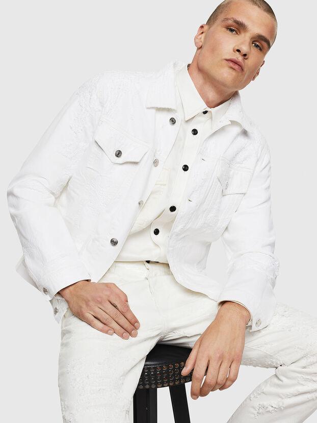 NHILL, Blanc - Vestes en denim