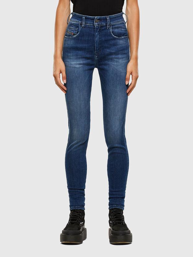 Slandy High 009FE, Bleu Foncé - Jeans