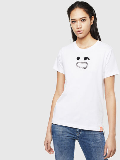 Diesel - T-SILY-S8, Blanc - T-Shirts - Image 1